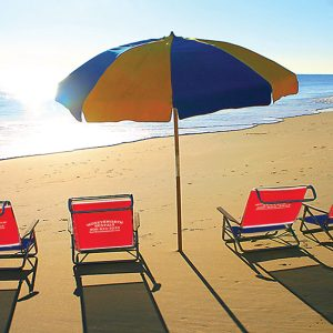 PACKAGE B BEACH CHAIRS AND UMBRELLAS