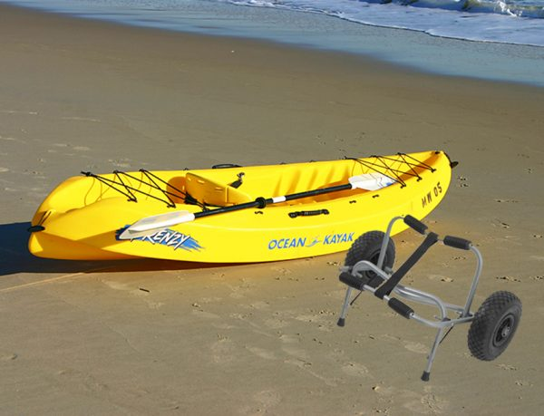 ocean kayak with kayak cart