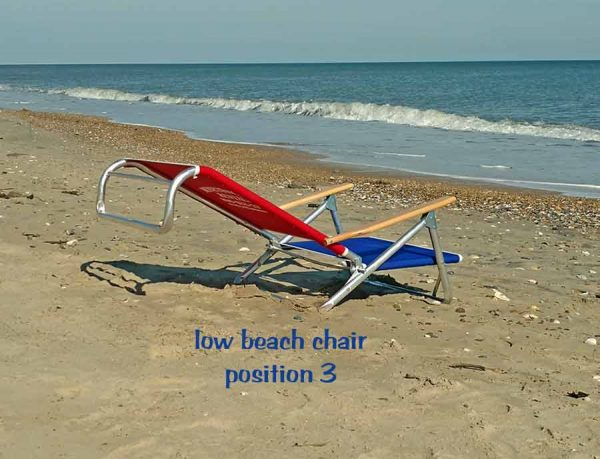 low beach chair position 3