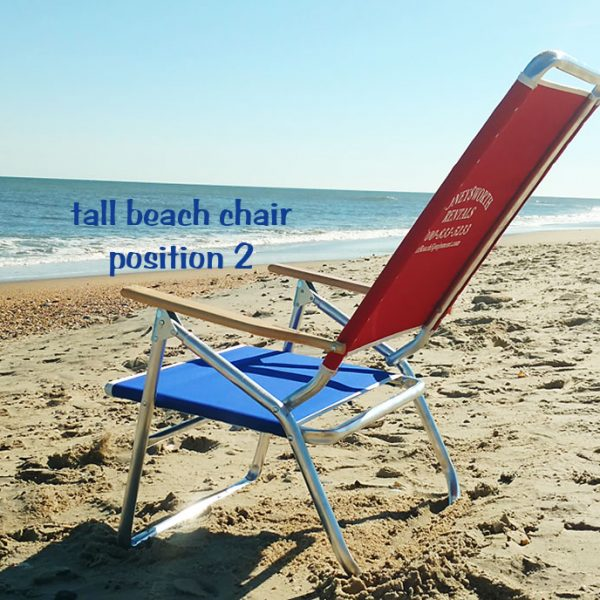tall beach chair position 2