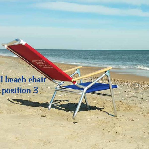 tall beach chair position 3