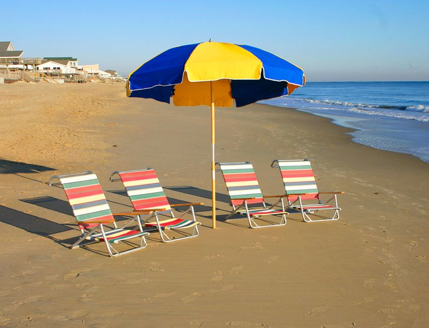 Beach Umbrella And Chairs For Rent In Virginia Beach